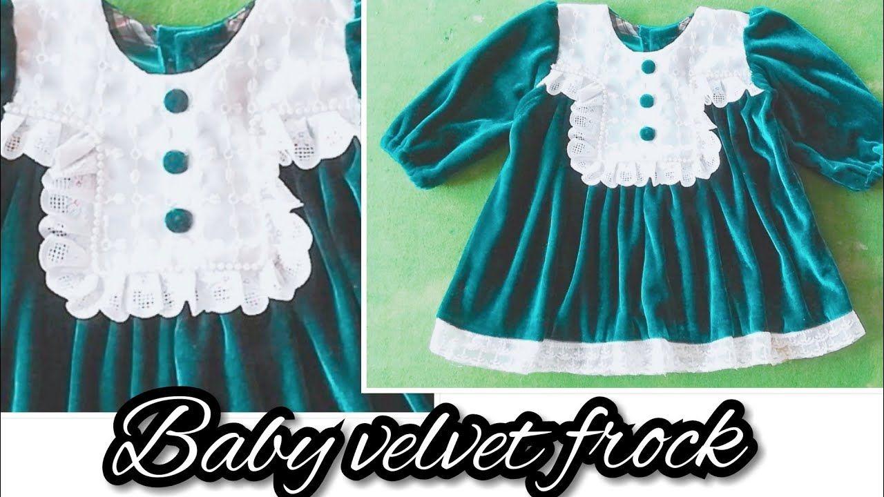2164f8b3c7625 Velvet Baby Frock: Velvet Baby Frock For Winter For 1 to 2 years Baby