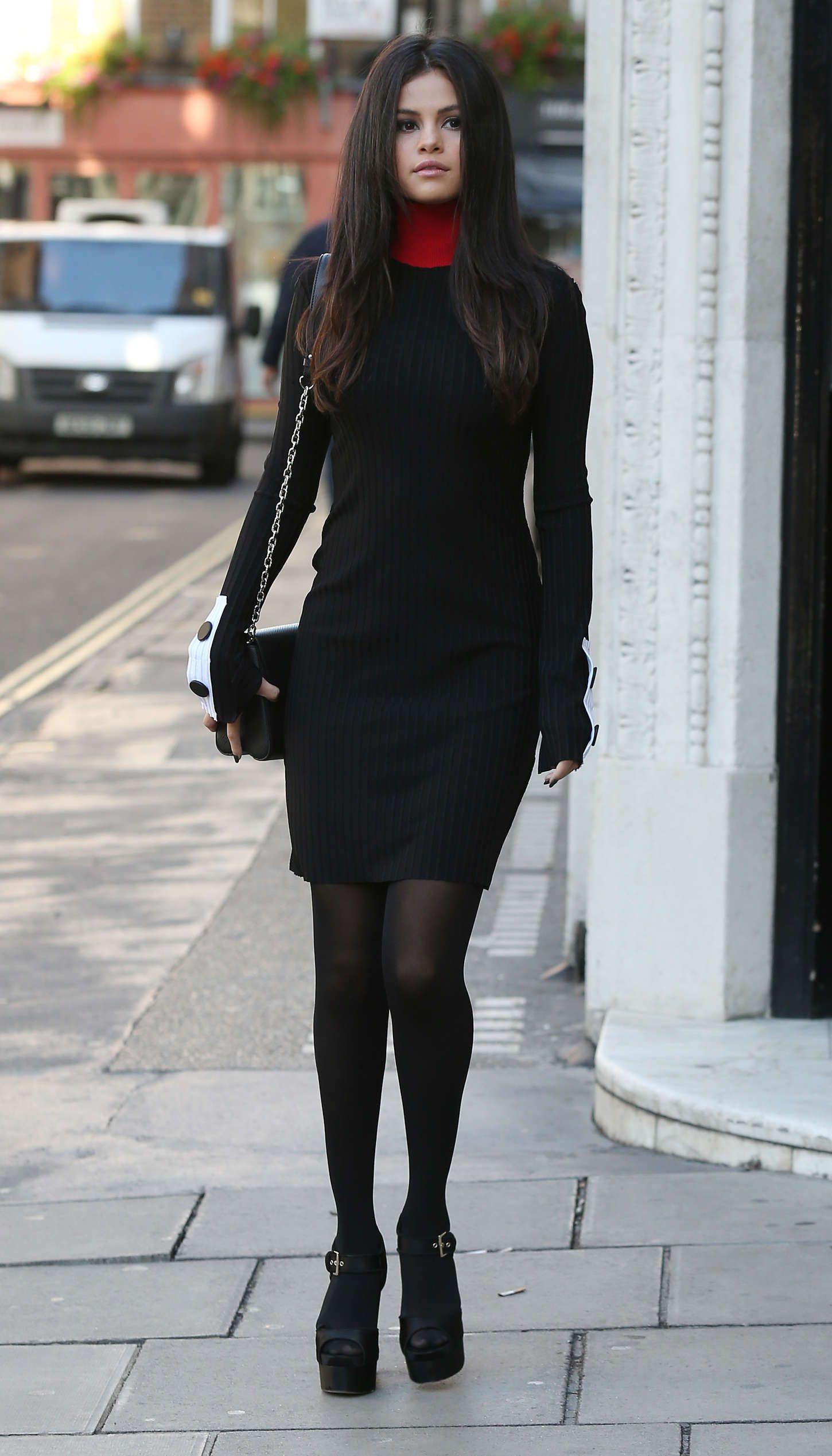 d12a2e53e65 Selena Gomez in Tight Black Dress -11
