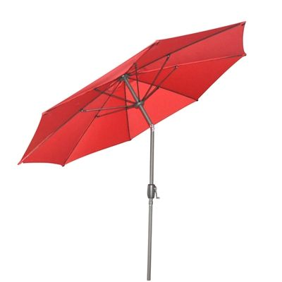 Garden Treasures 9 Ft Red Octagonal Market Umbrella