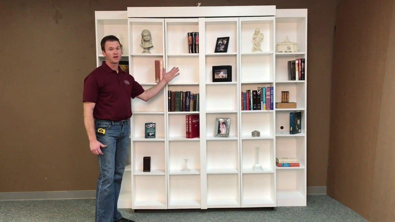 Pivoting Bookcase Murphy Murphy Bed Diy Murphy Bed Plans