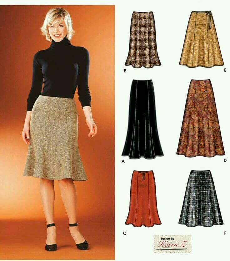 New Look Sewing Pattern 6433 Misses Skirts 8-10-12-14-16-18 Size A