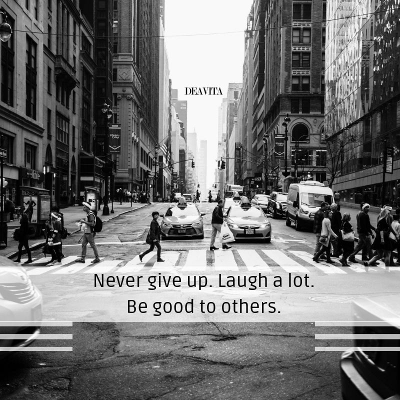 Short positive quotes Never give up Laugh a lot #never # ...