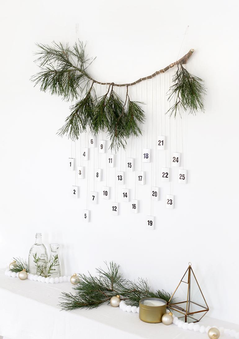 Diy Modern Matchbox Advent Calendar Christmas Advent Calendar Diy Scandinavian Christmas Diy Diy Advent Calendar