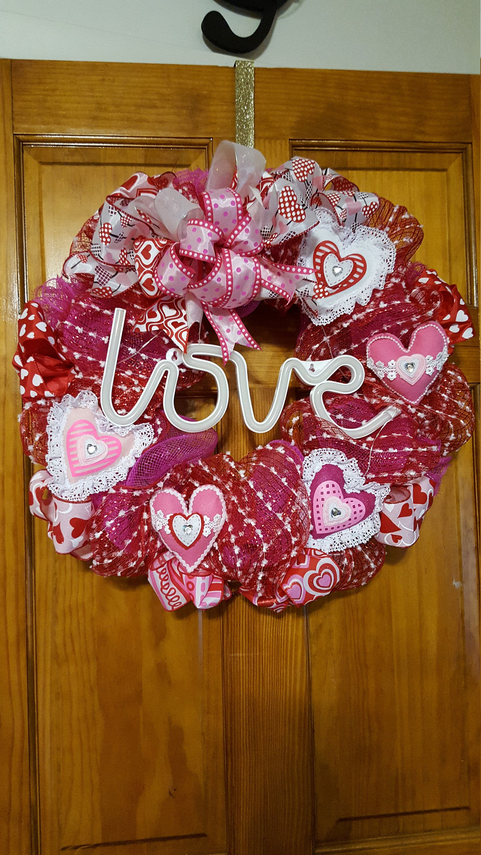 Lighted heart love wreath valentine day wreaths