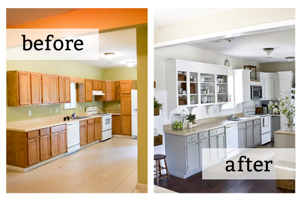 How To Set Home Renovation Budget Usa Affordable Properties Home Home Renovation Kitchen Cabinets Before And After