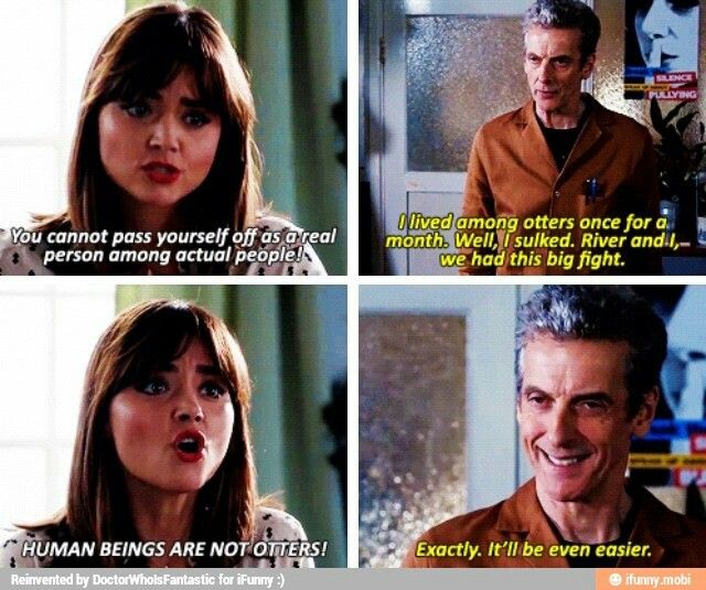 Image result for clara oswald otters quote
