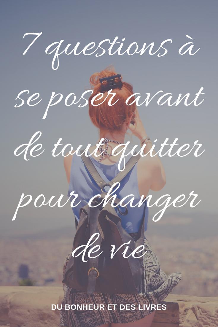Tout Quitter Pour Changer De Vie : quitter, changer, Épinglé, Psycho