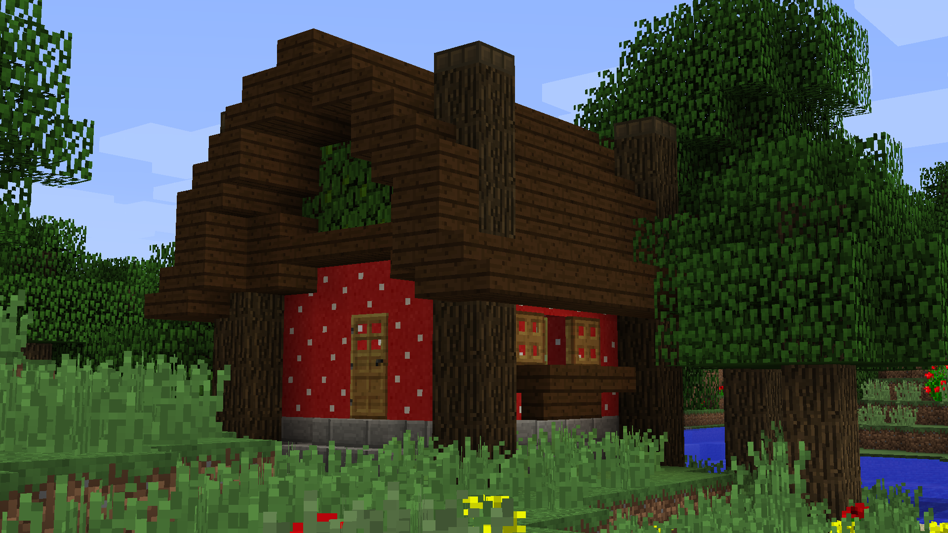 Minecraft mushroom cottage tutorial jeux vid os vid os for Classic house tutorial