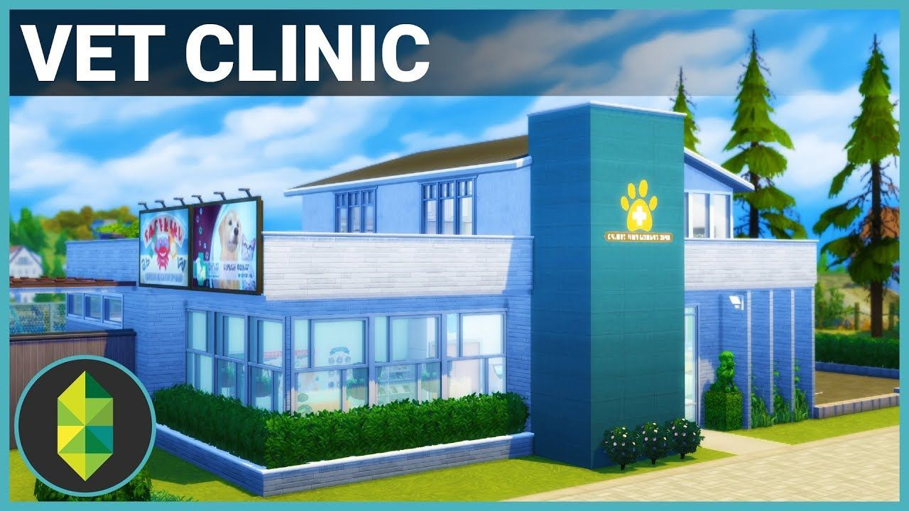 Vet Clinic The Sims 4 Building Youtube The Sims Clinica