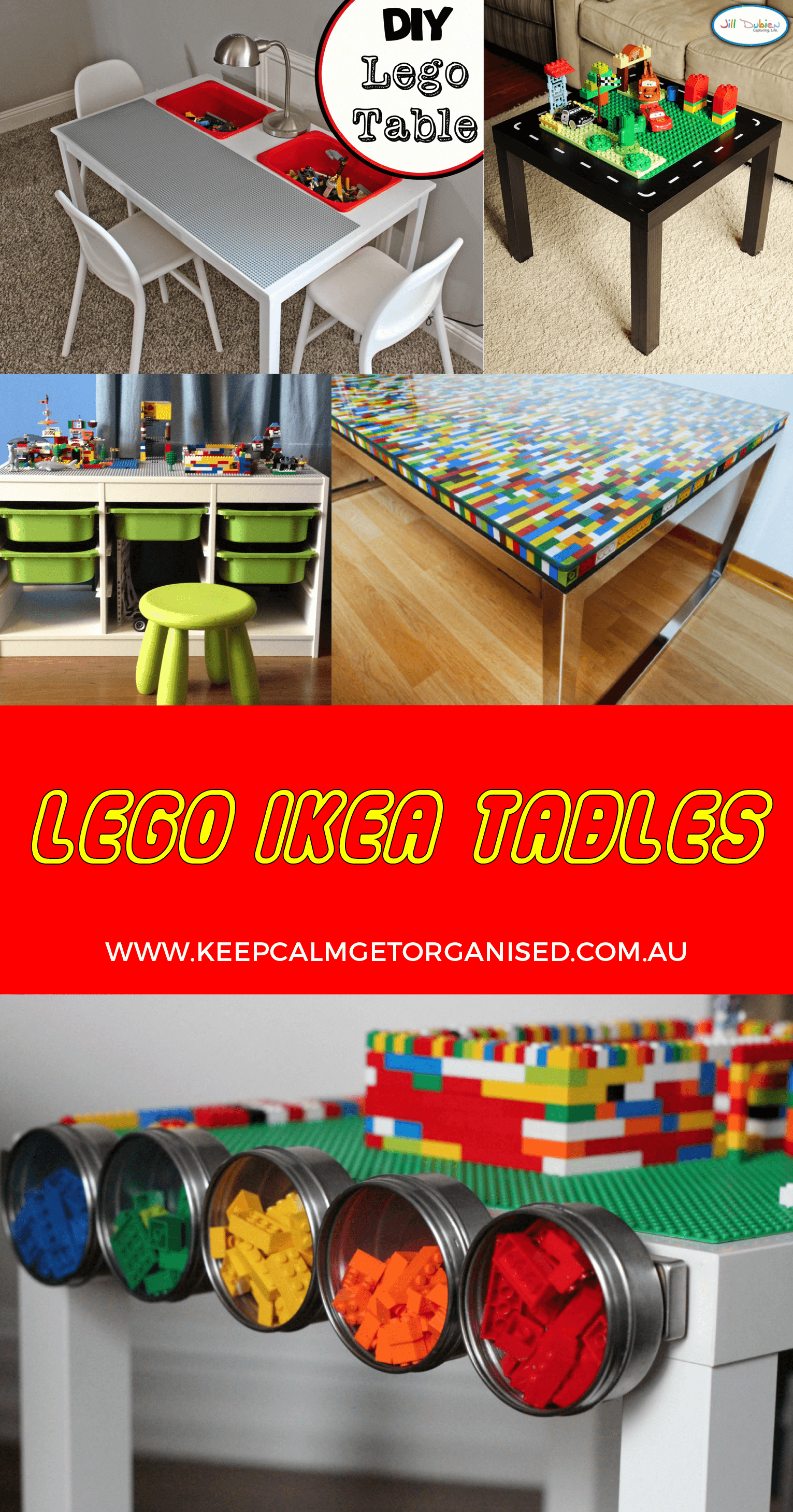 Lego Tables Ikea hacks & storage