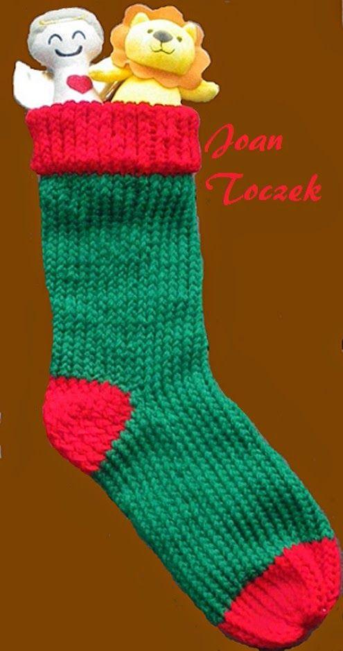 Knifty Knitter Christmas Stocking | Art Education - Fibers ...