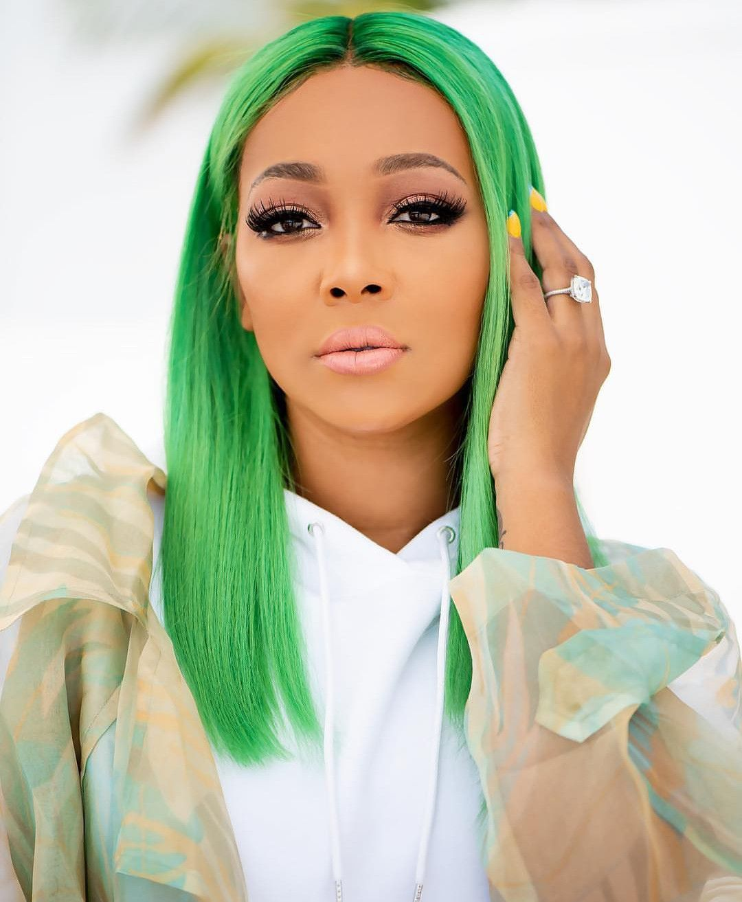 Image result for monica brown green hair