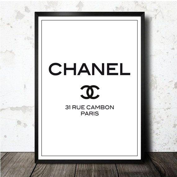 Chanel 31 Rue Cambon Paris printable artwork in A4 size Lámina - new tabla periodica en blanco y negro pdf