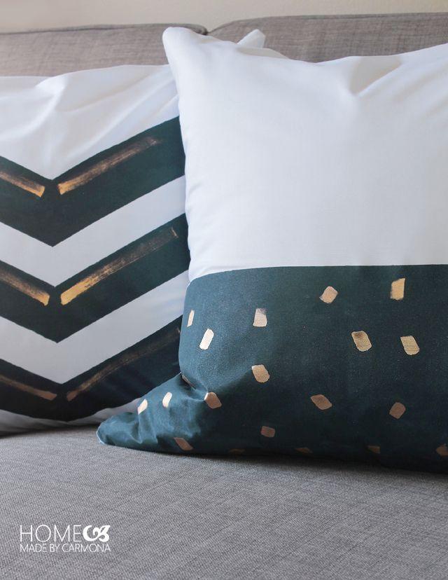 Navy Painted Throw Pillows Mama Pinterest Pillows Diy And