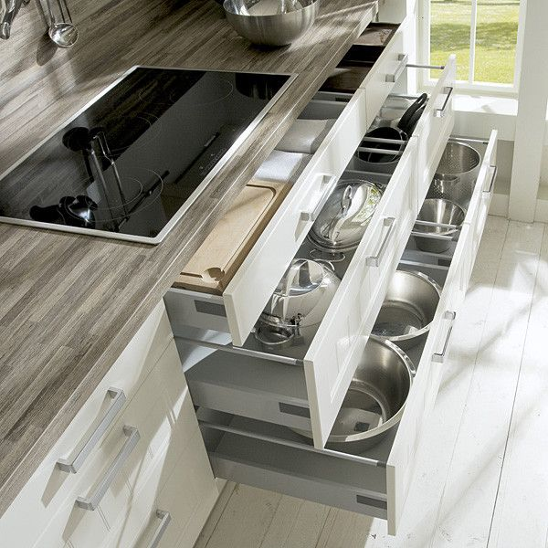 Perfect Plan Kitchen Cabinet Drawer Great Finishing Interior Cooking Room Tools Aluminium Pan