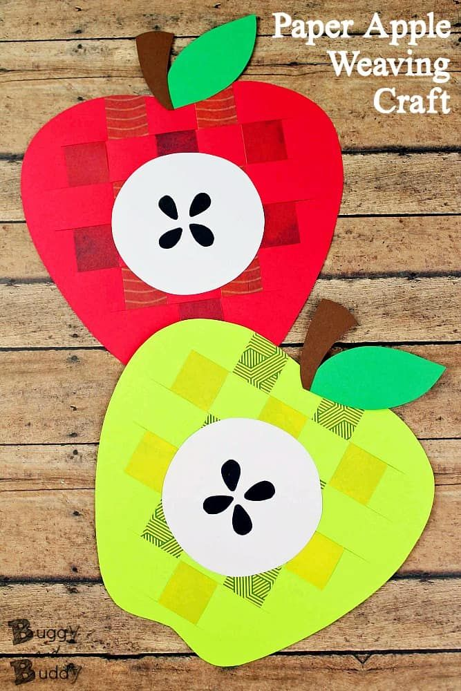 Woven Paper Apple Craft For Fall Buggy And Buddy Blog Pinterest