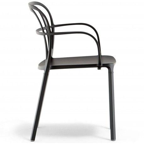 Intrigo 3715 Pedrali chaise 4 pieds Noire
