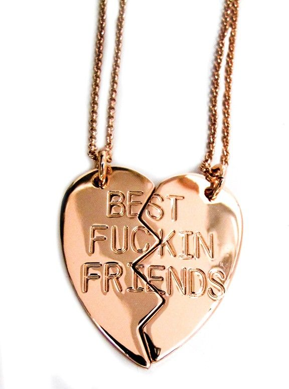 b5a4e3d608dd Best Fuckin Friends Necklace (Rose Gold)  29.95
