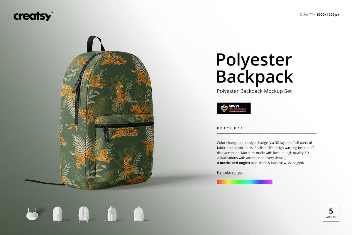 Download Polyester Backpack Mockup Set Backpacks Mockup Mockup Design