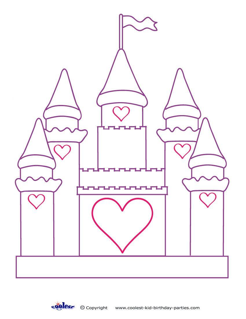 Printable Castle Decoration Castle Coloring Page Disney Coloring Pages Coloring Pages