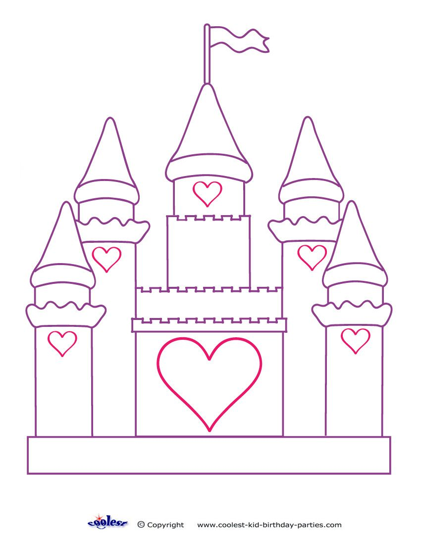 Printable Castle Decoration Disney Princess Coloring Pages