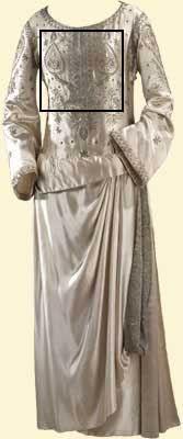paul poiret  wedding dress 1923 white silk satin