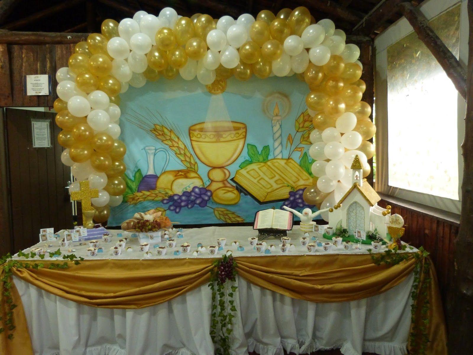bolo de primeira eucaristia em fortaleza Pesquisa Google Primeira comunh u00e3o e Batizados  -> Decoração Para Primeira Comunhão Na Igreja