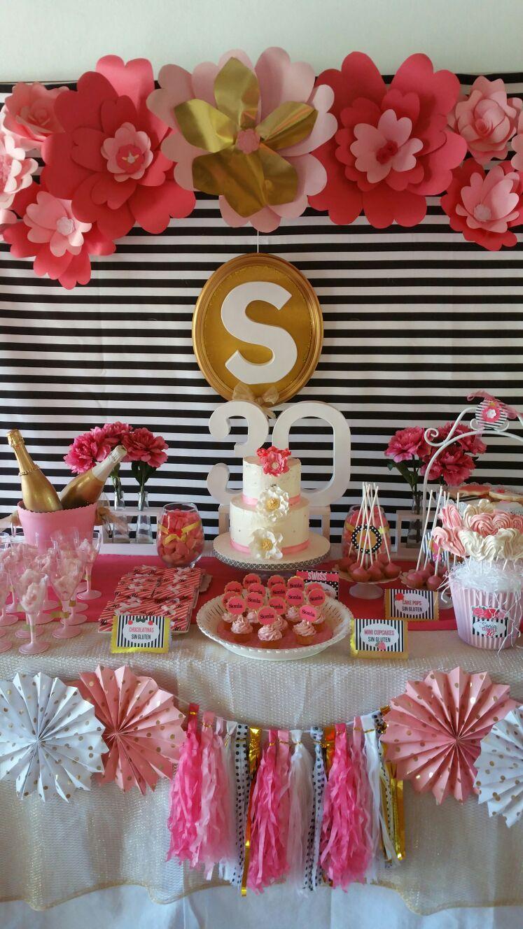 Mesa dulce para cumplea os stylecumplea os flores - Decoracion mesa cumpleanos ...