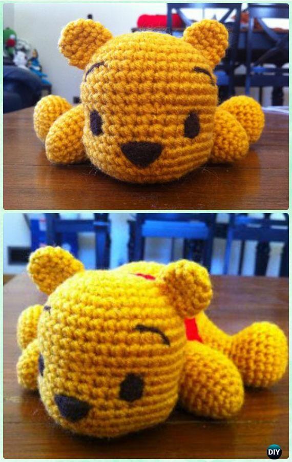 Crochet Amigurumi Winnie The Pooh Free Patterns | Ganchillo, Muñecos ...