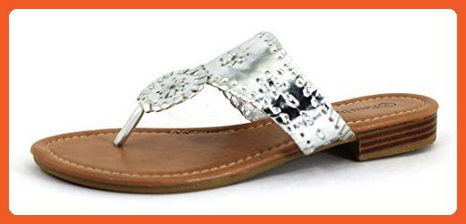 07987fad6427 Pierre Dumas Women s Rosetta 1 Silver Synthetic Sandals 7 B(M) US - Sandals  for women ( Amazon Partner-Link)