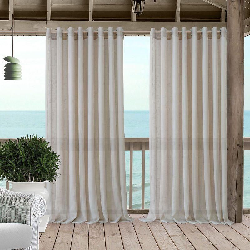 Elrene Carmen Sheer Extra Wide Indoor Outdoor Window Panels Sheer
