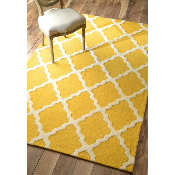 """Hand-Hooked Alexa Moroccan Trellis Petit-Point Wool Rug (8'6"""" x 11'6"""") - Overstock™ Shopping - Great Deals on Nuloom 7x9 - 10x14 Rugs"""