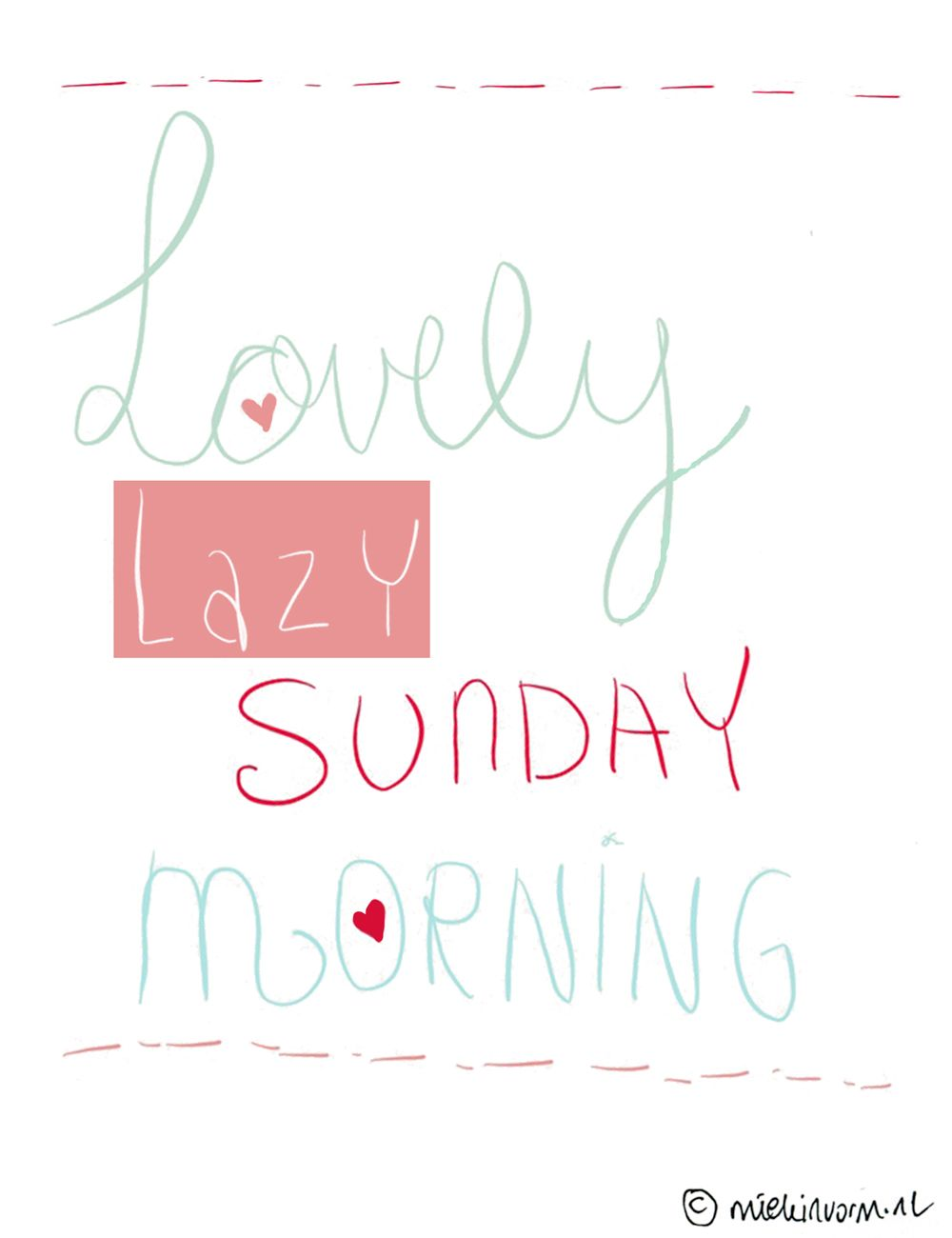 Have a lovely lazy sunday morning! We will here at Match