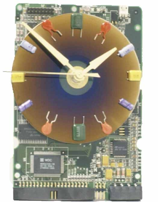 makin time computer art clocks made from old circuit boards and rh pinterest com