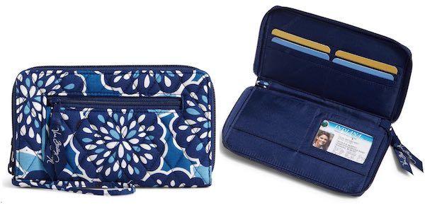 Best Price Vera Bradley Factory Exclusive Zip Around Wallet Only