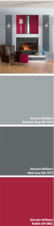Sherwin Williams Web Gray Sw 7075 Network 7073 Radish 6861