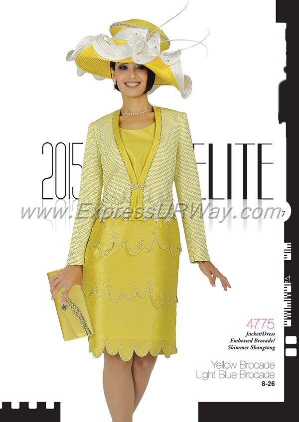 Elite Champagne 4775 Church Suits