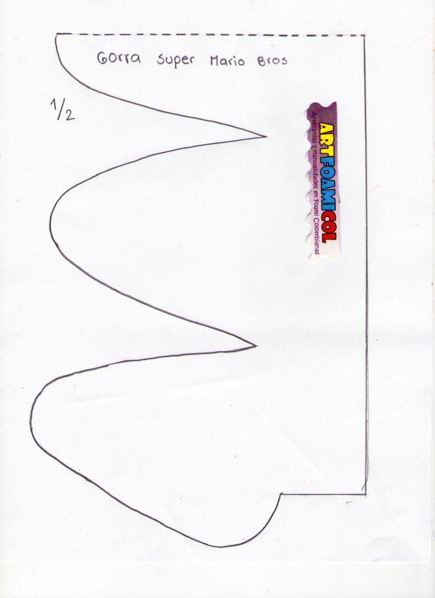 Mostrando MOLDES GORRA SUPER MARIO001.jpg | cumple julio | Pinterest ...