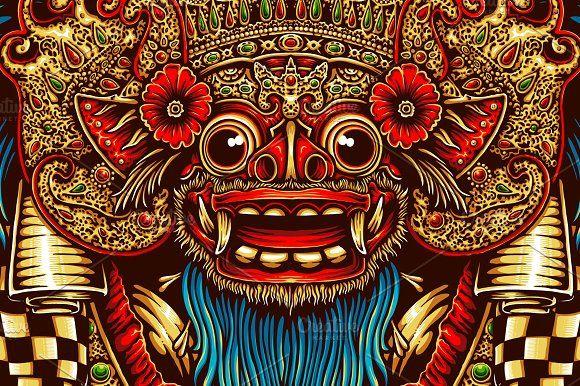 Barong Mask By Tsv Art Collective On Creativemarket Creative