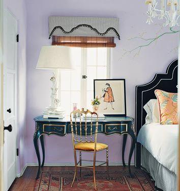 lilac + emerald An Elegant Home Pinterest Bedside desk, Lilacs