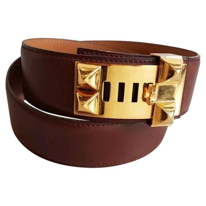 Hermes Collier De Chien Leather Belt Belt Leather Leather Belt