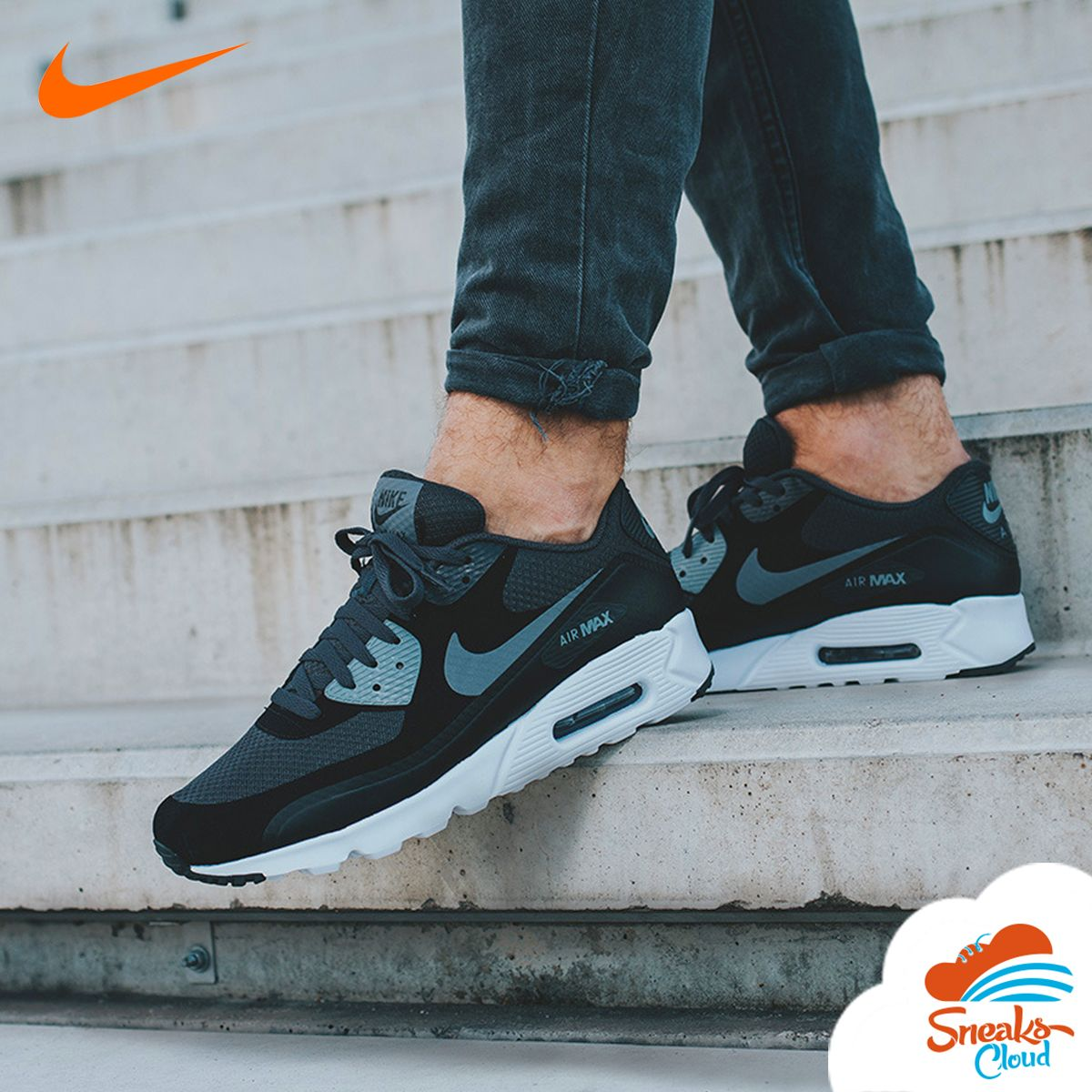 Nike Air Max 90 Ultra SE Black White Anthracite Men's Shoes - visit our  website for more information and prices.