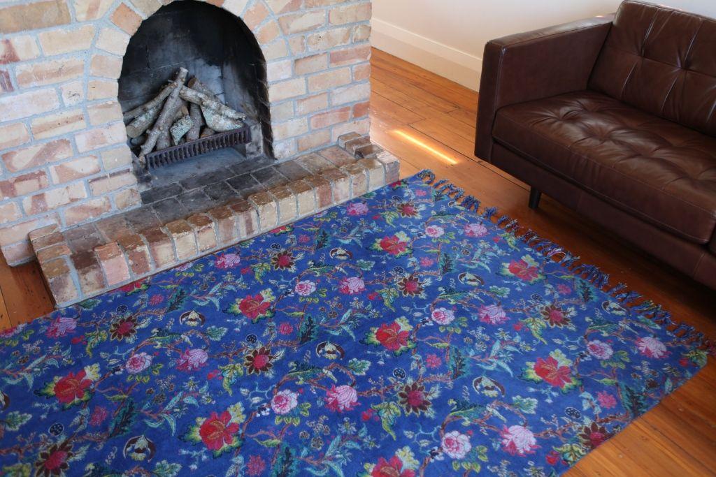 Indigo Tree of Life Rug. www.rosaliving.co.nz www.rosaliving.com.au