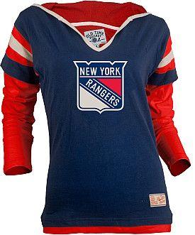 Old Time Hockey Rangers Fooler Hood T-Shirt