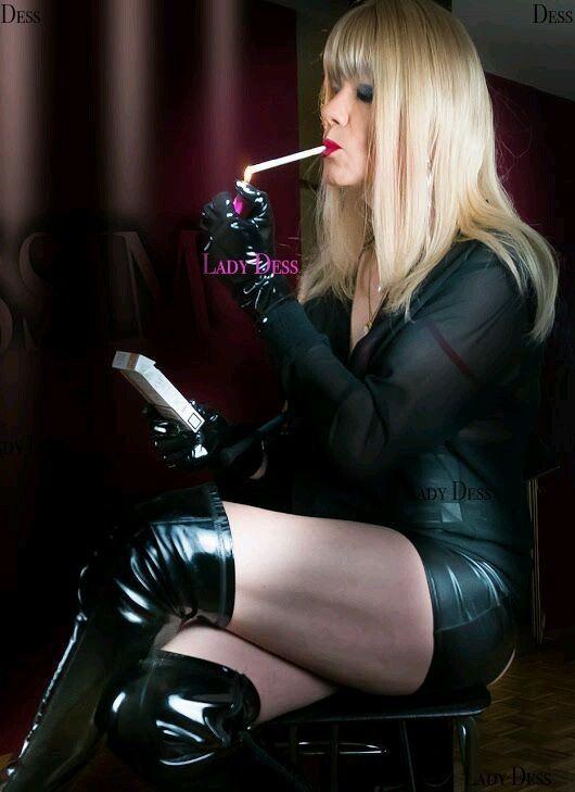 Watch Domina Lady Smoking A Cigarette Free