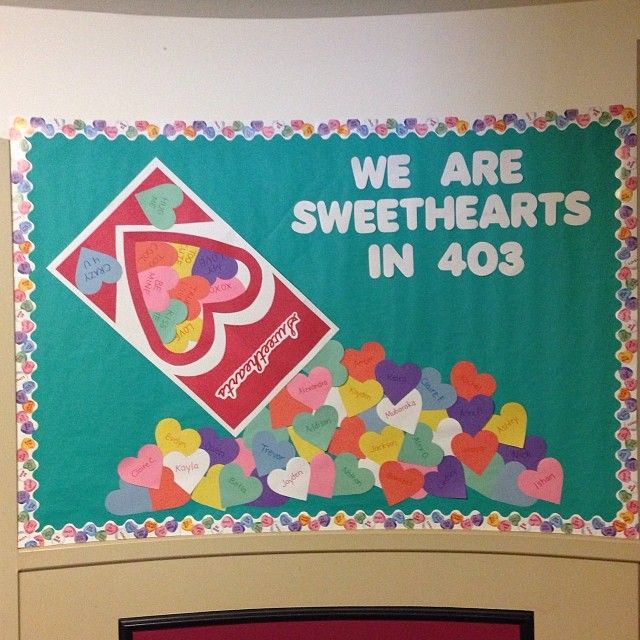 Valentineu0027s Day Sweethearts Bulletin Board Idea
