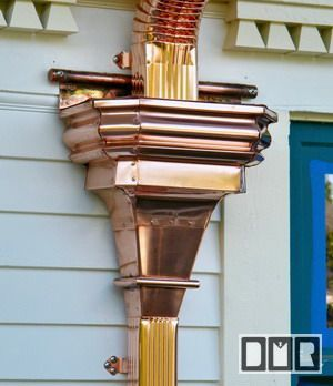 Cbd S Custom Downspout Funnels Leaderheads Or Scuppers Details Page Sheet Metal Fabrication Gutters Metal Roof