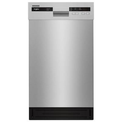 Whirlpool Front Control Built In Compact Dishwasher In Monochromatic Stainless Steel With Stainless Steel Tub 50 Dba Wdf518sahm The Home Depot In 2020 Steel Tub Built In Dishwasher Compact Dishwasher