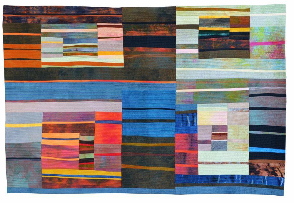 Kit Vincent Textile Art Fastwater Last Light 42x60