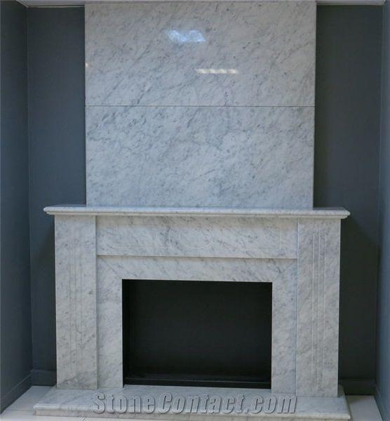 Bianco Carrara Marble Fireplace Bianco Carrara White Marble
